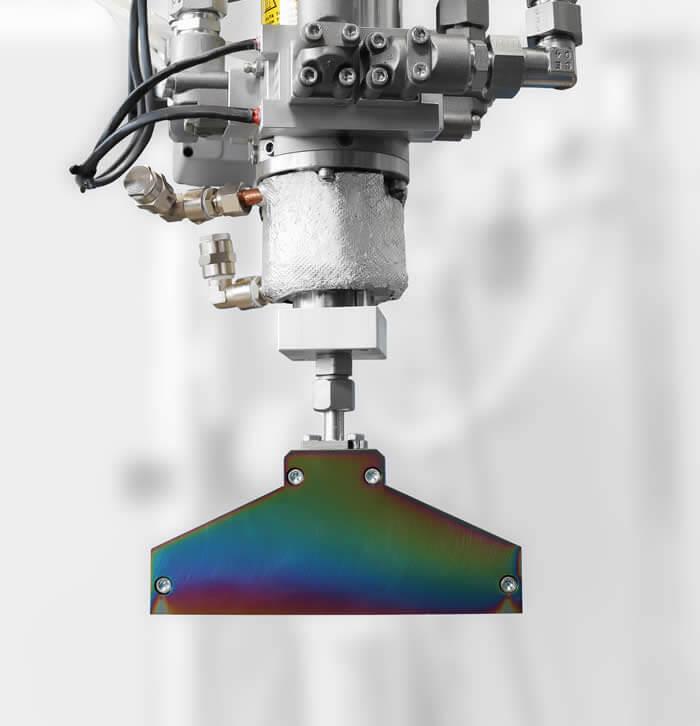 Optimales Vermischungsergebnis: dynamischer Rührermischer vom Typ ULTIMIX mit Breitschlitzdüse