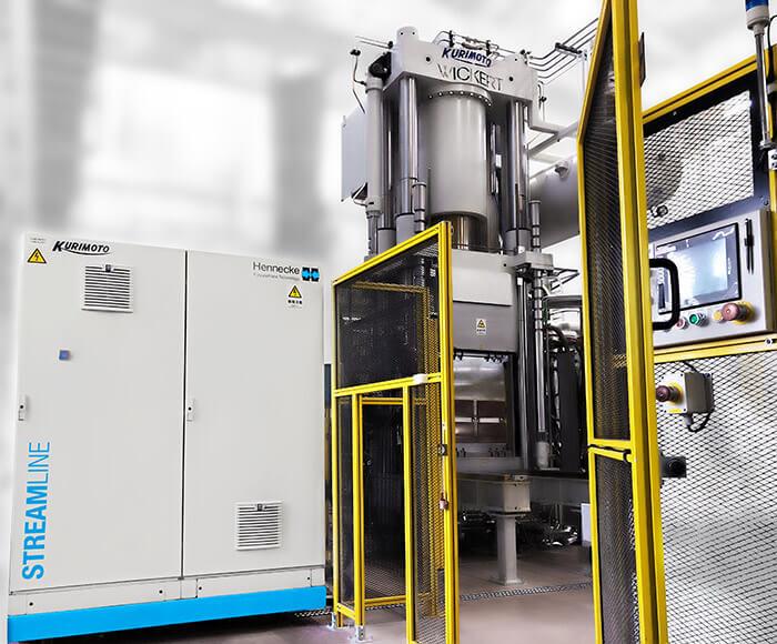 Die Dosierung der Reaktiven-Rohstoffsysteme übernimmt das Hochdruck-Dosiersystem STREAMLINE